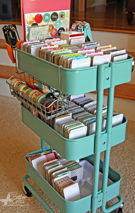 ikea cart organizations craft rooms storage basket ideas crafts