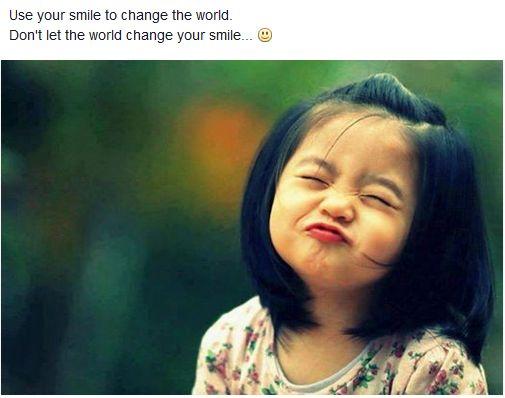 Hãy cười như em của trước đây.