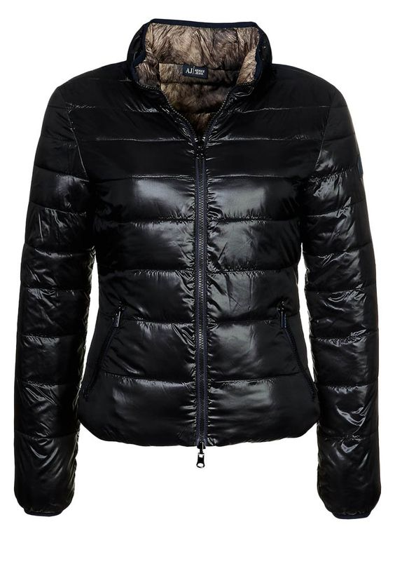 #Armani Jeans - Winterjacke - schwarz / fell