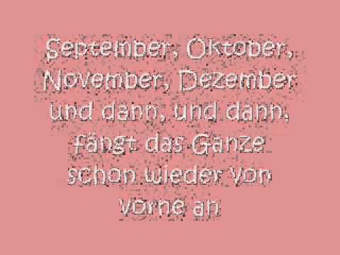 Rolfs Liederkalender - Die Jahresuhr mit Songtext zum Erlernen der Monate