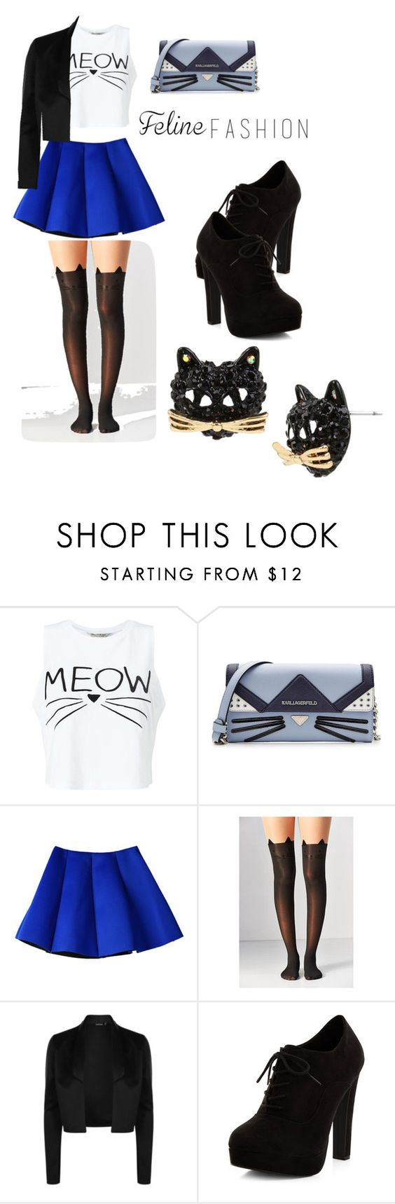 """""""Untitled #56"""" by dominek-leftjustified-jones ❤ liked on Polyvore featuring Miss Selfridge, Karl Lagerfeld, Urban Outfitters, New Look and Betsey Johnson"""