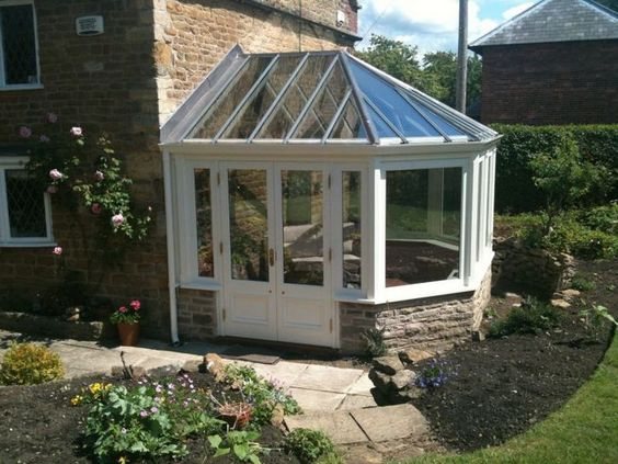 Small conservatory small conservatories orangeries for Orangery lighting ideas