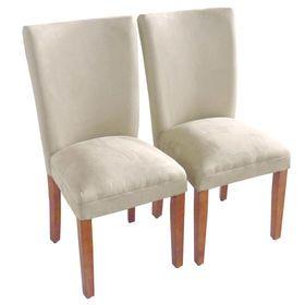 Tahoe Tan Microsuede Parsons Chair