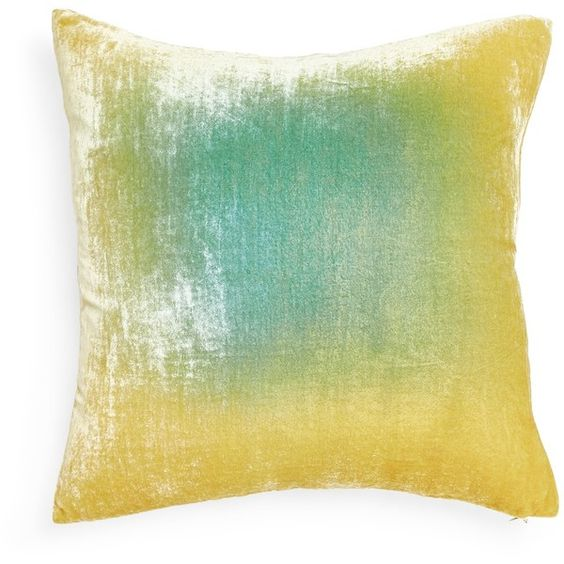 Kevin O'Brien Ombre Velvet Pillow ($314) ❤ liked on Polyvore featuring home, home decor, throw pillows, pillows, velvet throw pillows, velvet accent pillows, traditional home decor, kevin o'brien and embroidered throw pillows