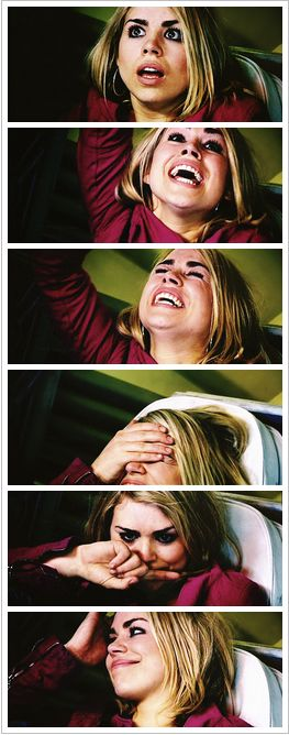Rose Tyler - Her reactions after hearing his voice again were adorable!!!
