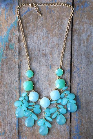 Beautiful turquoise necklace also available in white only $32.50 here at Frogmore #statementnecklace #fashion