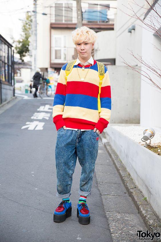 Seiya, 21 yaşında, öğrenci |  23 Nisan 2015 |  #Fashion #Harajuku (原宿) #Shibuya (渋 谷) #Tokyo (東京) #Japonya (日本)