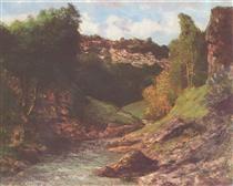 Rocky Landscape - Gustave Courbet