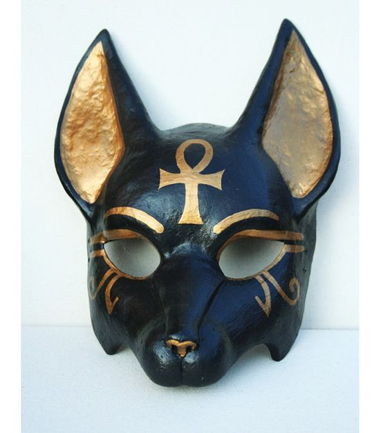 Anubis Symbol | Anubis Mask with Ankh Symbol by NonDecaffeinatedArt on Etsy
