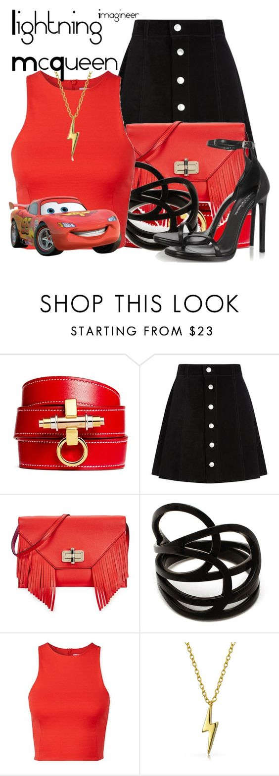 """""""Lightning McQueen (Cars)"""" by claucrasoda ❤ liked on Polyvore featuring Givenchy, AG Adriano Goldschmied, Diane Von Furstenberg, Repossi, T By Alexander Wang, Bling Jewelry and Yves Saint Laurent"""