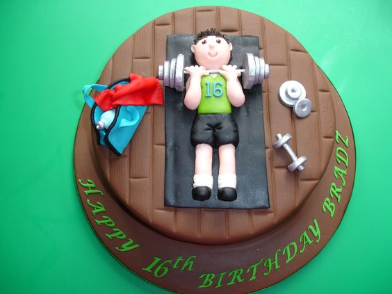 DECORATING DESIGN IDEA ~ gym cake - i loved aine2 cake, i used the design for my cake as i love her work thankyou