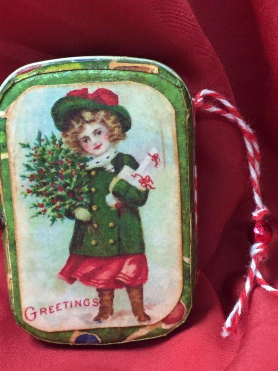Outside vintage tin Christmas 2014