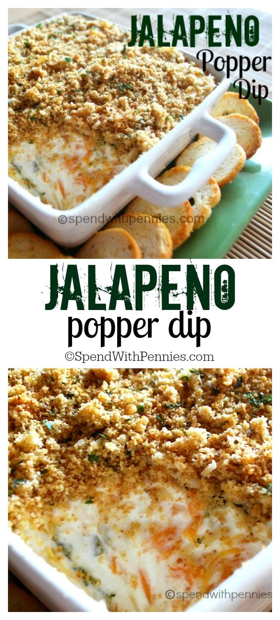 This delicious dip is my go to appetizer!  Creamy, cheesy and just a little bit spicy, this is a real crowd pleaser!