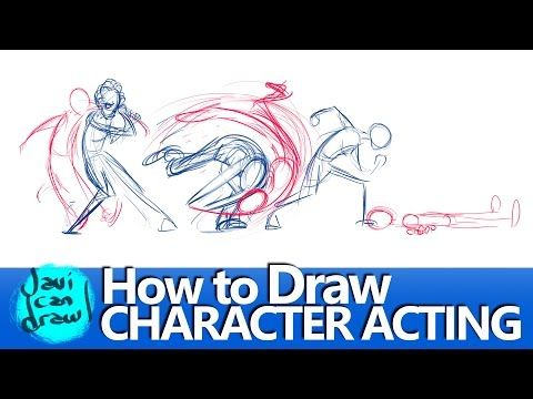 FIGURING OUT HOW TO DRAW ACTING - YouTube