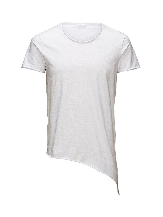 PREMIUM by JACK & JONES - T-Shirt von PREMIUM - Slim fit - Rollsäume im Kragen - An einer Seite länger - Asymmetrische Naht an der Rückseite 100% Baumwolle...