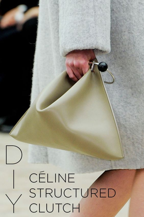 DIY Celine embrague Estructurado, Como t0, Moda femenina, Otoño 2013 | DeSmitten