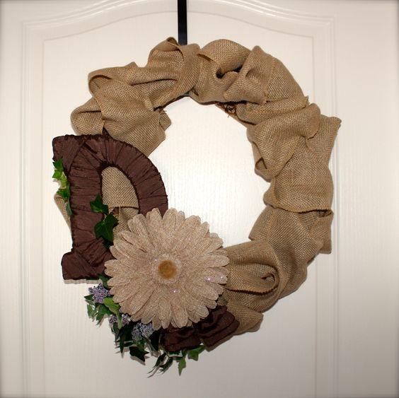 #Handmade by Laurel.  Wreaths #DIY with #burlap #wreath #crafts