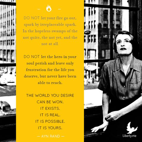 Ayn Rand was born this day in 1905.