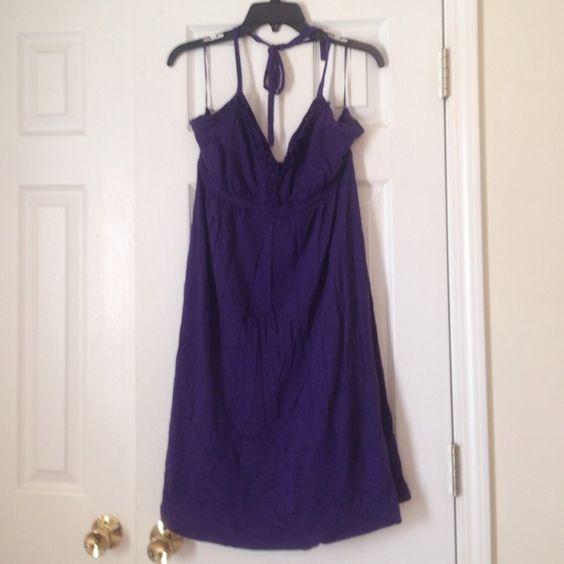Purple halter dress Express purple halter dress size L Express Dresses