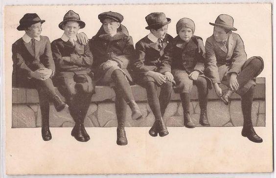 Vintage Advertising Postcard WEARPLEDGE SUITS School Boys on Wall - Unused