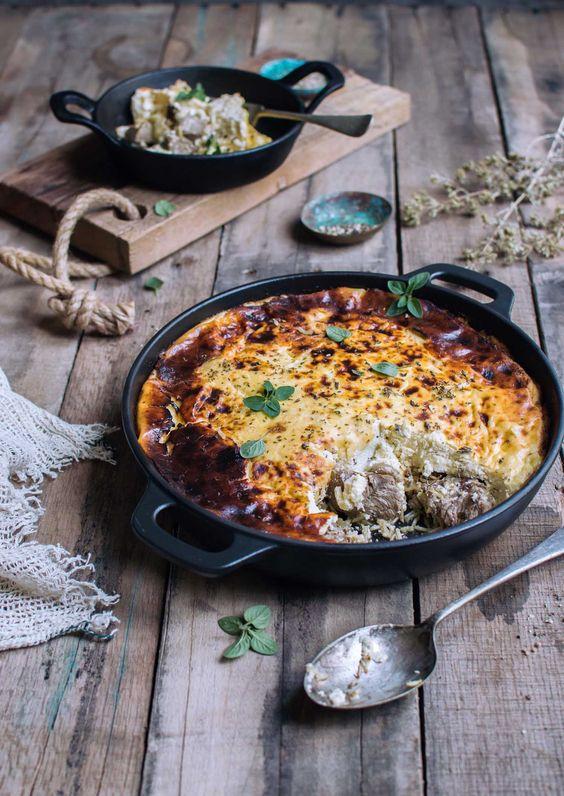 Albania's national dish of tavë kosi | heneedsfood.com