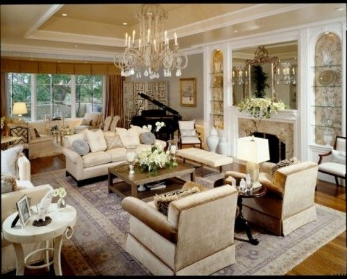 classic style - living room