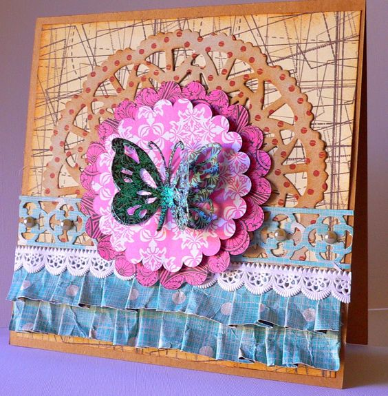 Couture Creations: Delightful Card by Adriana | #couturecreationsaus #decorativedies #ornamentallacedies #cards #butterflies: