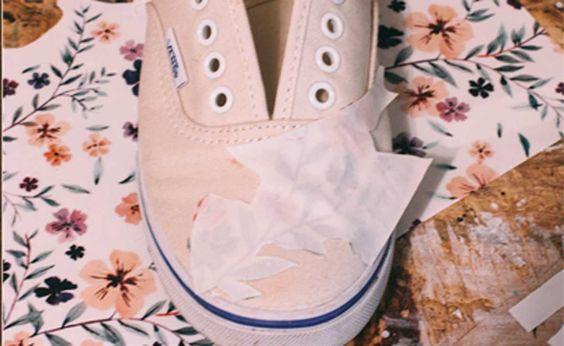 Utilizando diseños y una plancha podrás revivir tus gastadas zapatillas en pocos pasos