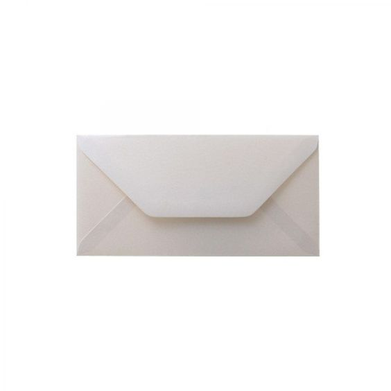 Quartz Soft Ivory DL Pearlescent Envelopes 120GSM Diamond Flap Pack Size : 25…