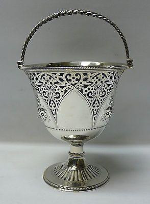 Victorian Silver Sugar Basket 1866 Peacock Mansfield & Britton