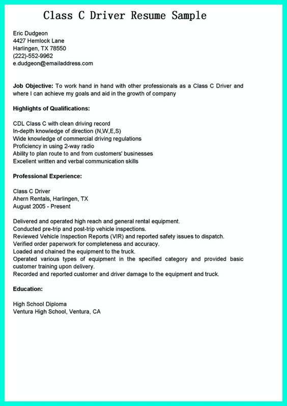 nice Simple but Serious Mistake in Making CDL Driver Resume - truck driver resume