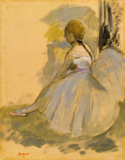 artemisdreaming: 1871 Edgar Degas(French Impressionist, 1834-1917) ~Seated Dancer