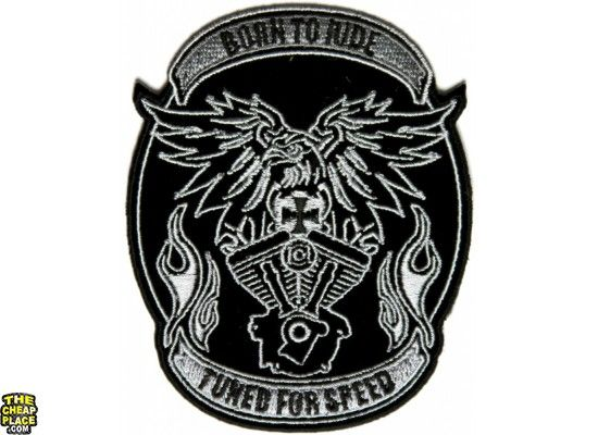 Born to Ride Tuned for Speed Biker Eagle Patch