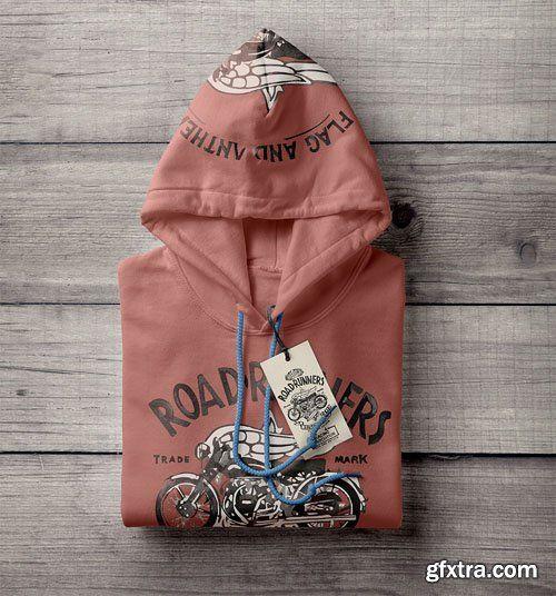 Download Folded Psd Hoodie Sweatshirt Mockup
