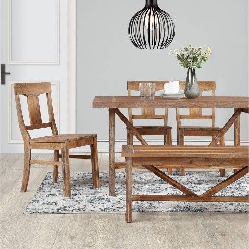 Wheaton Farmhouse Trestle Dining Table Threshold Target