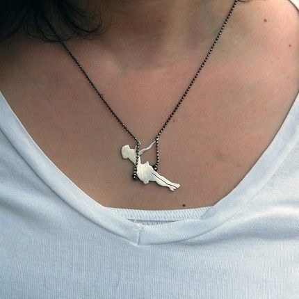 A Little girl swinging pendant necklace,only $0.99  Big promotion fashion jewelry, shop at www.costwe.com