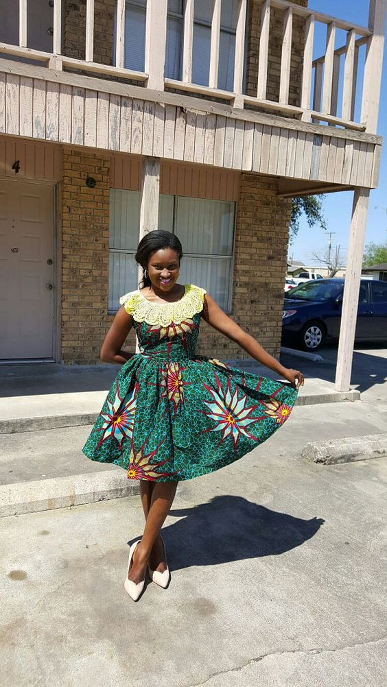 African Print Dress. Ankara dress. by FeyikeCouture on Etsy: