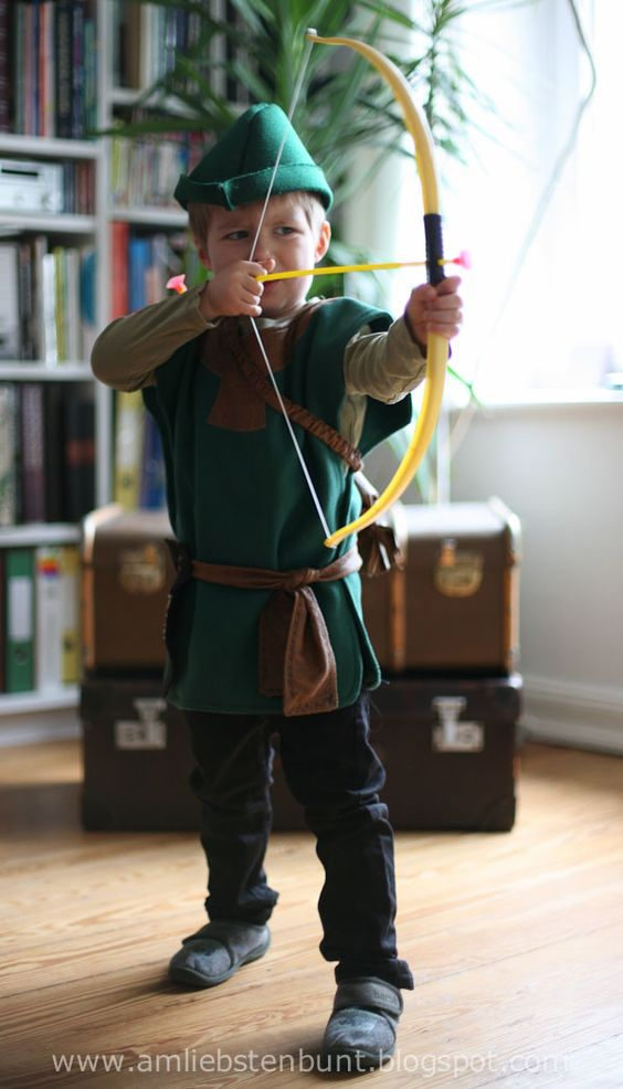 am liebsten Bunt : Schnittmuster für das Robin Hood Kostüm