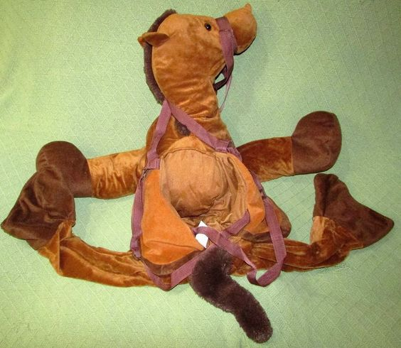 Childrens HORSE Riding COSTUME Brown Size 3T to 4T Adjustable Straps HALLOWEEN…