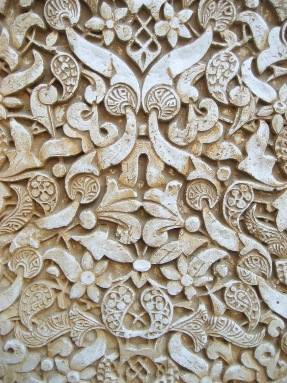 Alhambra, stone carving detail