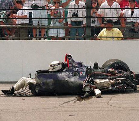 Old Indy Car Crashes