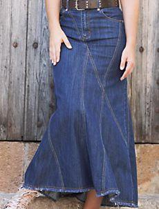7c2eb32c20 Bonita Blue Flares Long Jean Skirt # RE-0637 | Style J Fashion for .