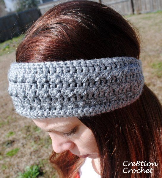 Free Crochet Ear Warmer Patterns For Adults : Sleek and Skinny Headband Ear Warmer free written pattern ...