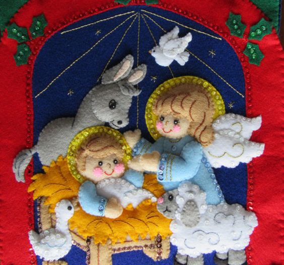 Bucilla Advent Calendar Completed by MissingSockStitchery on Etsy