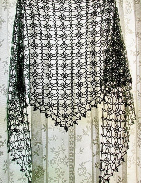 Summer Sprigs Lace Shawl Free Crochet Pattern : Pinterest The world s catalog of ideas