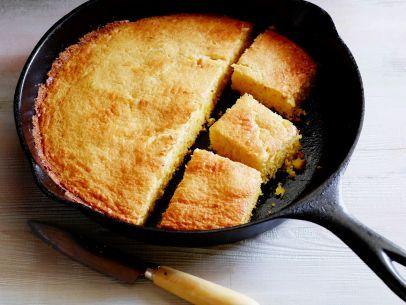Cast Iron Skillet Corn Bread, double recipe, large cast skillet, use 1 extra cup flour, 1 less cup cormeal