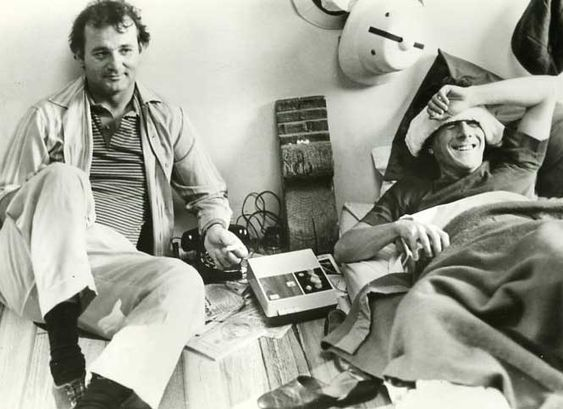 Bill Murray and Dustin Hoffman on the set of Tootsie