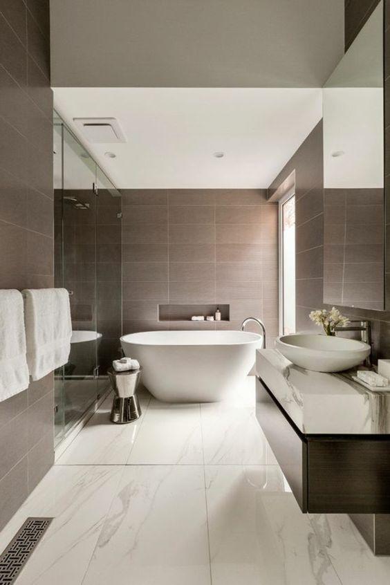 quelles portes serviettes mettre dans votre salle de bain design taupe