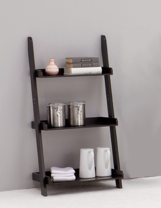 LEITERN Black 3-Tiered Ladder Shelf Bookcase Display Unit: Amazon.co.uk:  Kitchen & Home | For the Home | Pinterest | Ladder bookcase and Display