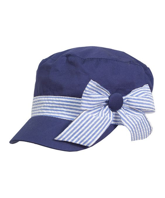 Look at this Navy Stripe Ribbon Cadet Cap on #zulily today!